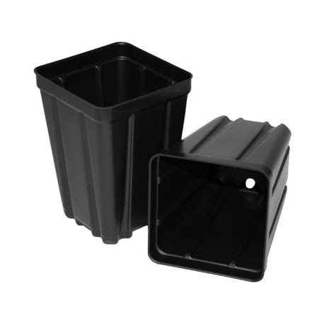 black square plant pots wholesale black plastic plant pots