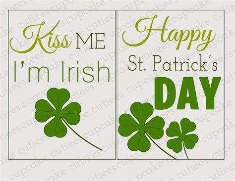 happy birthday on st s day clip free printable march clip 45