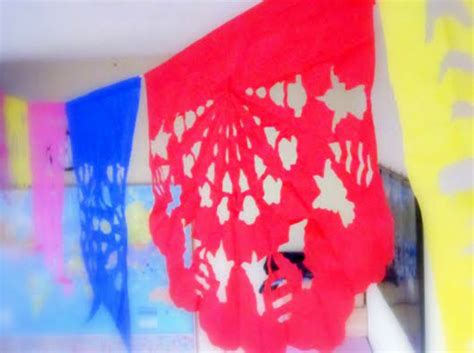 Mexican Paper Crafts - make papel picado tissue paper flags dollar store crafts