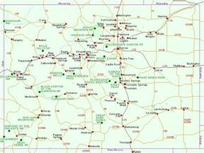 colorado map of us map of national parks and national monuments in colorado