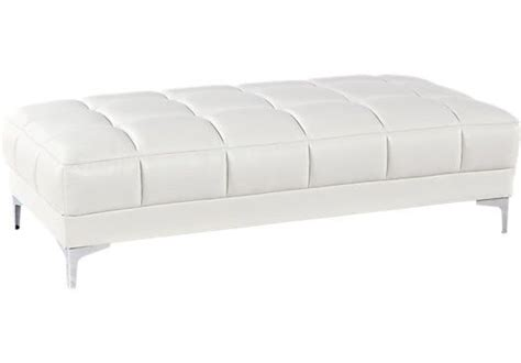 rooms to go ottoman shop for a sofia vergara sybella off white blended leather