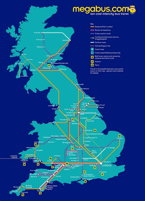 megabus usa route map megabus uk routes