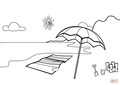 sheets beach scene coloring pages 95 about remodel to