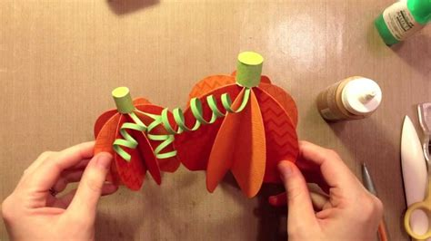 How To Make A Pumpkin Out Of Paper - how to make paper pumpkins