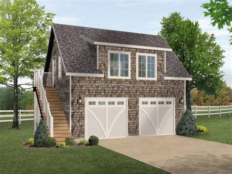 one bedroom garage apartment two car garage plan