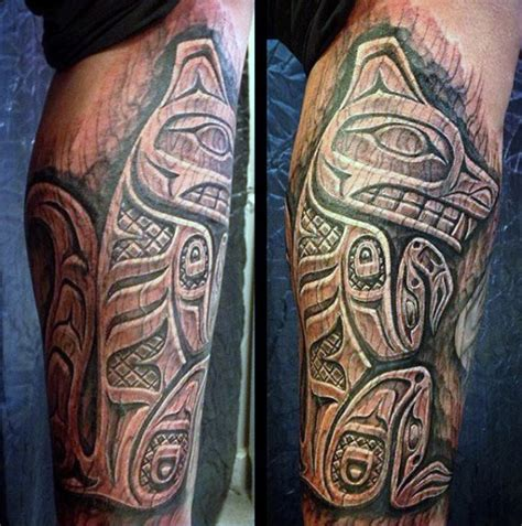 50 wood carving tattoo designs for men masculine ink ideas