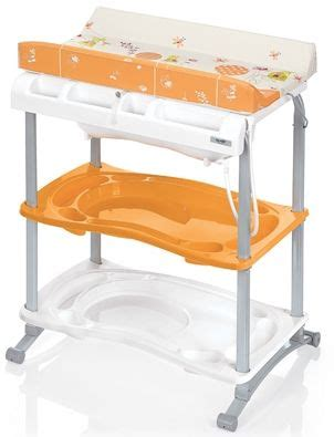 Brevi Babido Changing Table And Bath Tub Orange Br595 Changing Table And Bath