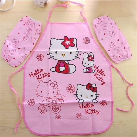 Hk Pvc Apron Celemek Hello pinafore promotion shop for promotional pinafore