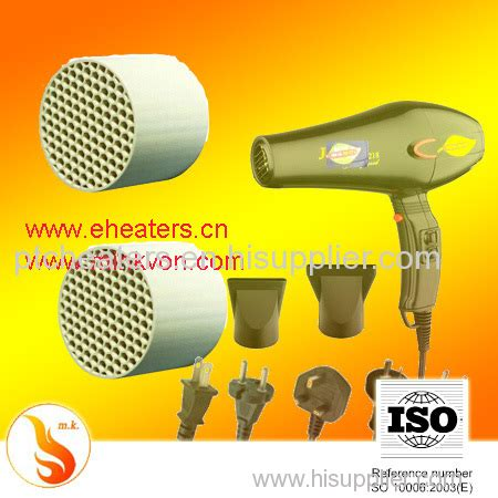 Hair Dryer Element far infrared ceramic cellular heating element honeycomb ptc heaters basis for hair dryer mzfr