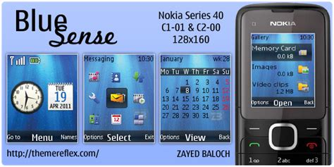 themes nokia mobile c1 blue sense theme for nokia c1 01 c2 00 themereflex