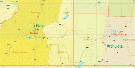 map of colorado vector printable map state colorado us all roads admin extra ai pdf 29