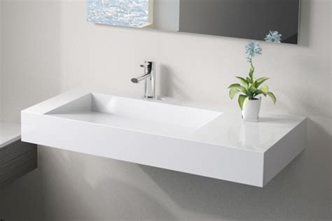 low profile modern resin wall mounted sink wt 04 modern bathroom san francisco