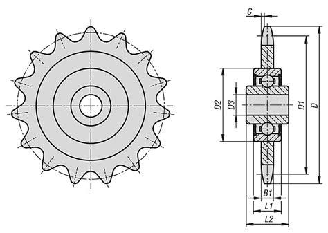 seleccion de cadenas y sprockets norelem ruedas tensoras para cadena con rodamiento de bolas