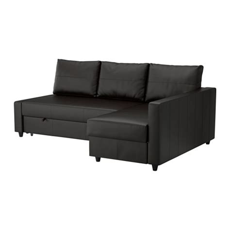Ikea Sofa Bed Leather Friheten Sofa Bed With Chaise Bomstad Black Ikea