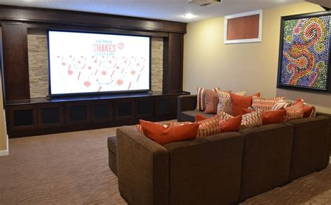 theatre room cabinets built in home theater with cabinets we designed the cabinets with columns to hide a pipe on the