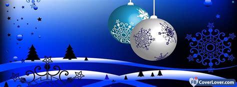 blue christmas ornaments seasonal facebook cover maker fbcoverlovercom