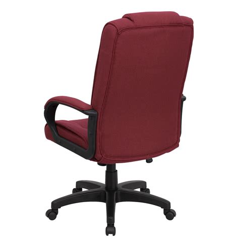 Fabric Office Chairs by High Back Burgundy Fabric Executive Office Chair Go 5301b