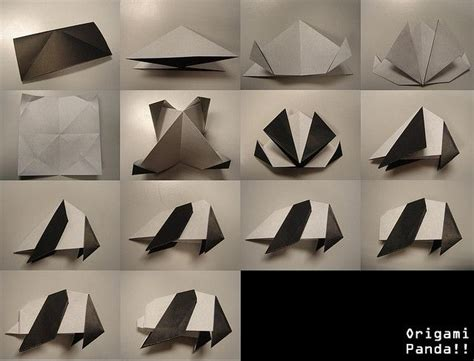 How To Make Origami Panda - 14 best panda images on origami animals