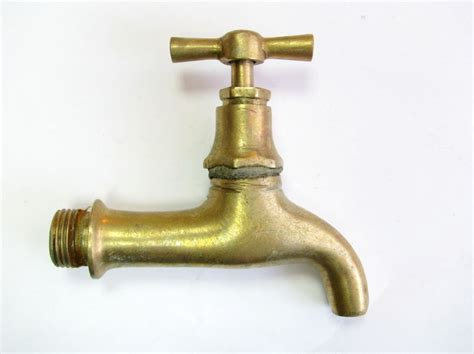 backyard faucet ussr vintage old antique solid brass outdoor faucet spigot