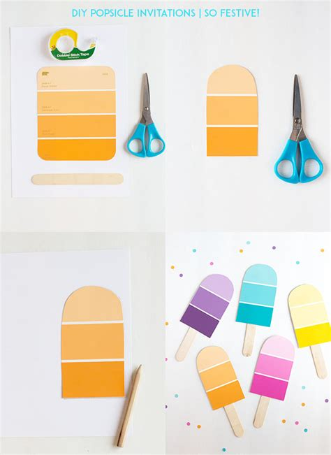 Images Of Birthday Decoration At Home by Diy Popsicle Party Invitations So Festive
