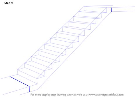 Treppen Zeichnen Lernen by Learn How To Draw Staircase Everyday Objects Step By