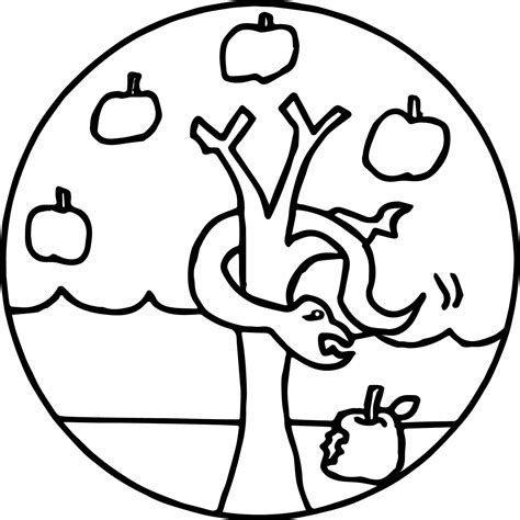 apple computer coloring pages apple tree and snake coloring page wecoloringpage