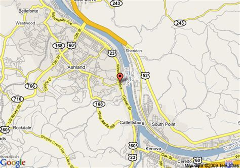 kentucky map ashland map of quality inn ashland ashland