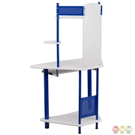 blue computer desk corner computer desk with hutch