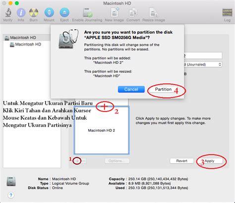 Hardisk Untuk Macbook Pro cara mudah membagi partisi hardisk di macbook apple saku