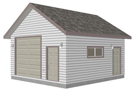 Garage Shed Designs g447a 18 x 20 x 10 8 12 pitch free pdf garage plans blueprints