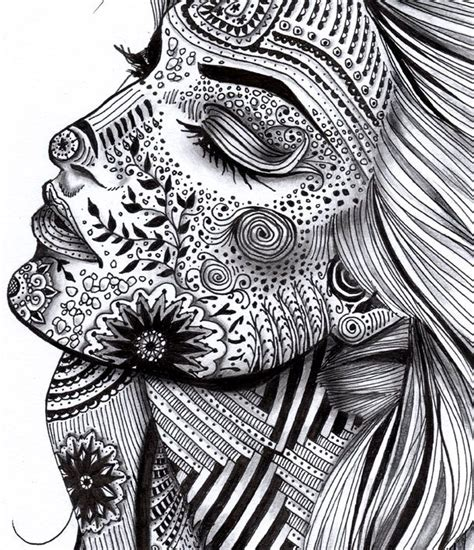 Drawing Zentangle by Creative Zentangle Designs Illustratedwomanbw2
