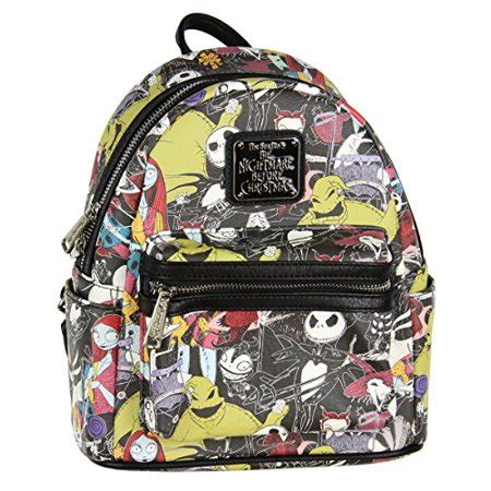 loungefly loungefly the nightmare before allover print character mini backpack