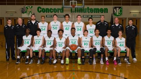 concord high school basketball 2015 16 boys basketball team pictures concord minutemen