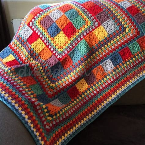 Rainbow Crochet Baby Blanket by 11 Modern Square Crochet Baby Blanket Patterns