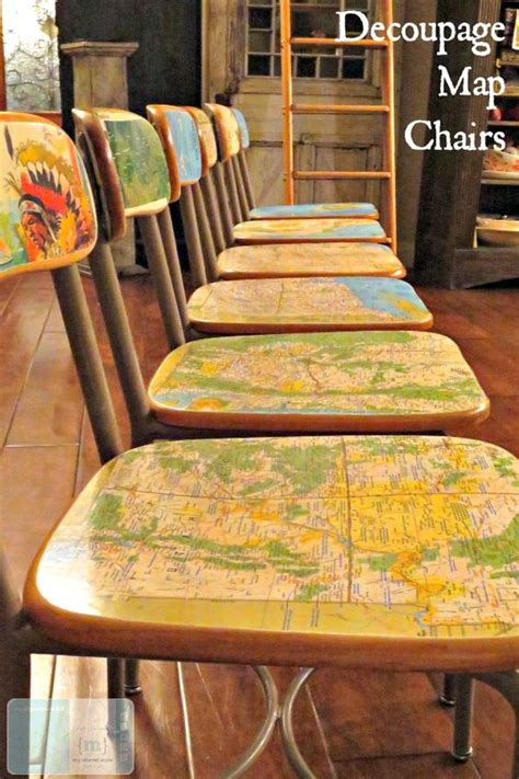 decoupage furniture diy to tell map it and kitsch on
