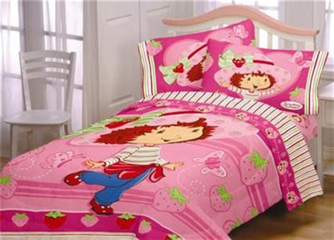 strawberry shortcake full size comforter and sheet set and
