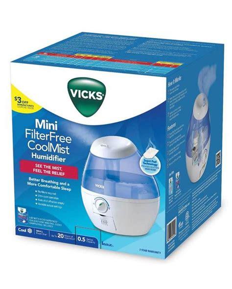 vicks mini filter free cool mist humidifier white