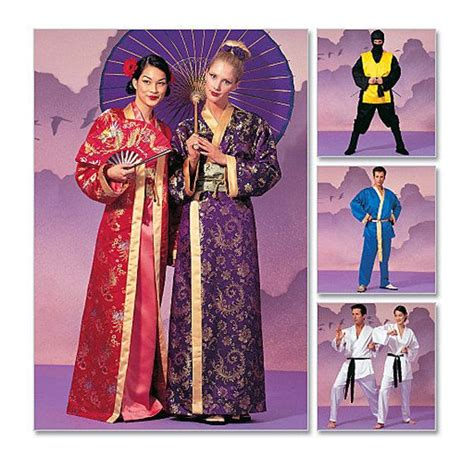 ninja costume pattern mccalls geisha ninja karate kimono robe patterns easy sew costume