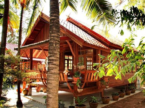 Thai Kitchen Design cheap tropical home design made from wood 4 home ideas