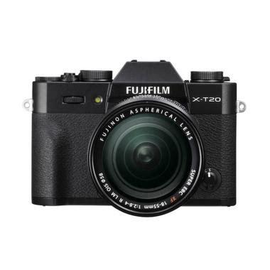 blibli kamera mirrorless jual fujifilm x t20 18 55mm kamera mirrorless black