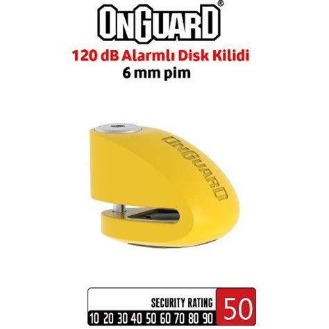 onguard  smart alarmli motosiklet disk kilidi mm