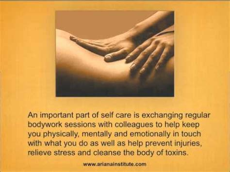 care selve translation self care for therapists