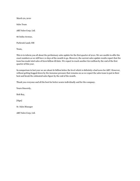 Sales Update Letter Sales Personal Letters Helps You Find The Right Words Using Letter Update Letter Template