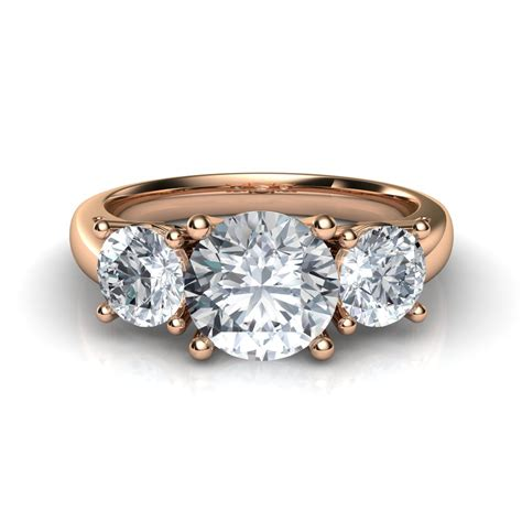 In Engagement Rings by Trilogy 3 Engagement Ring In 14k Gold