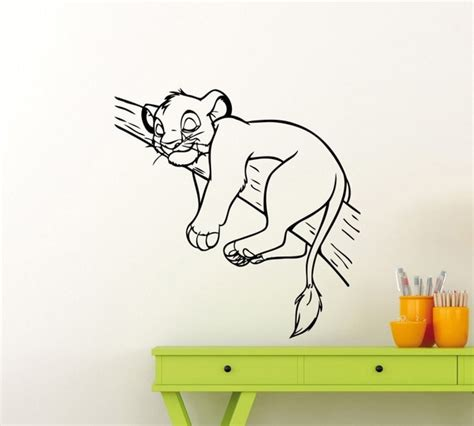Wandtattoo Kinderzimmer Dumbo by King Simba Sleeping On A Tree Branch Silhouette
