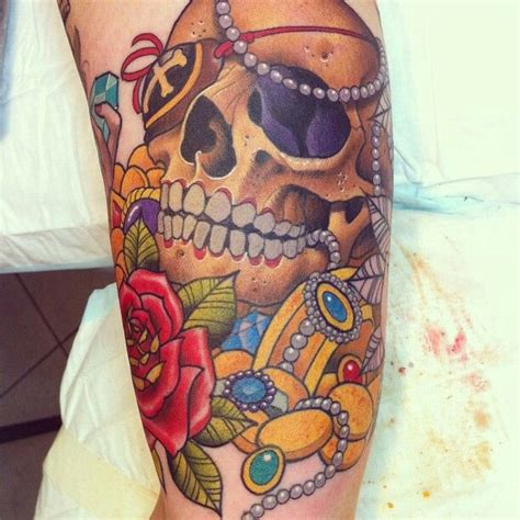 treasure tattoo pirate treasure map tattoos