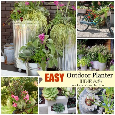 outdoor planter ideas easy creative outdoor planters four generations one roof