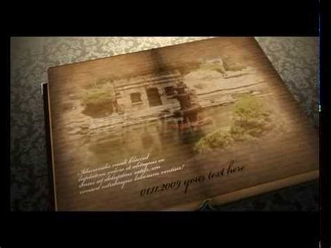Free After Effects Template Quot Romantic Book Quot Youtube After Effects Book Opening Template