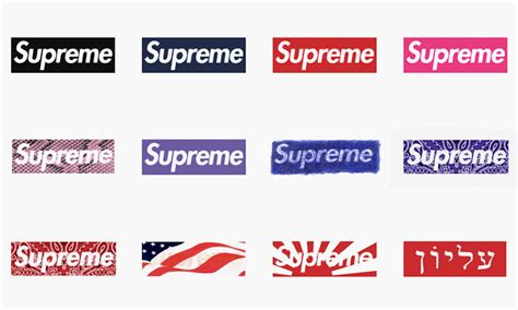 supreme logo 20 years of the supreme box logo highsnobiety
