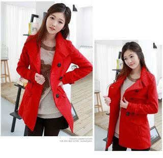 Jaket Parka Wanita Merah Kanvas Distro Terbaru Keren Ev Terlaris jaket korea terbaru jual jacket keren distro